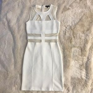 Topshop White Cut-Out Dress - Body Con